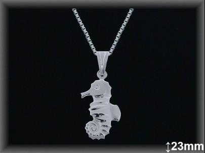 "Colgantes plata lisa ""caballito mar"" 23 mm. cad7300A"