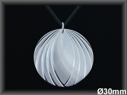 Colgantes plata esfera tallada  30mm.cor. 7262
