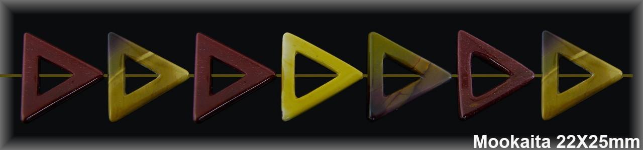 Cad.Triangulo Mookaita 22x25 MM.-1 Hilo 17 Pzas.-