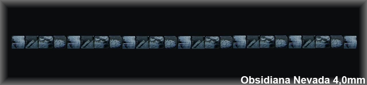 Cilindro Obsidiana Nev  4 MM.-1 Hilo 135 Pzas.-