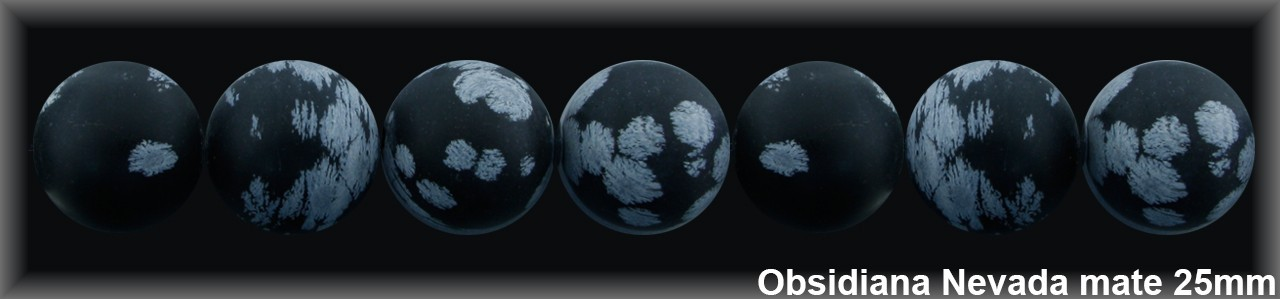 Bola Obsidiana Nev  25 MM.-1 Hilo 17 Pzas.-