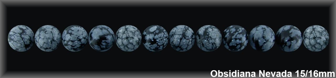 Bola Obsidiana Nev  15-16 MM.-1 Hilo 26 Pzas.-