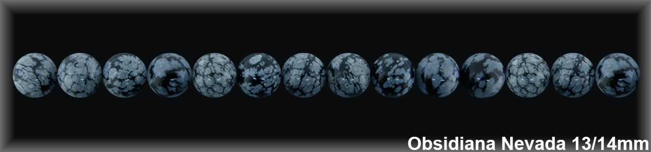 Bola Obsidiana Nev  13-14 MM.-1 Hilo 32 Pzas.-
