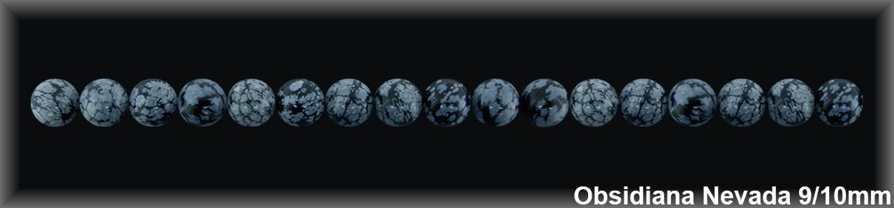 Bola Obsidiana Nev  10 MM.-1 Hilo 38 Pzas.-