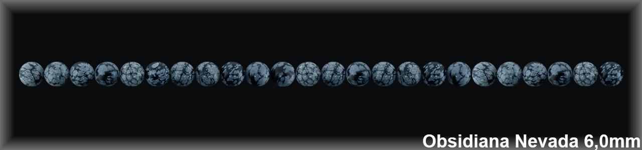 Bola Obsidiana Nev  6 MM.-1 Hilo 64 Pzas.-
