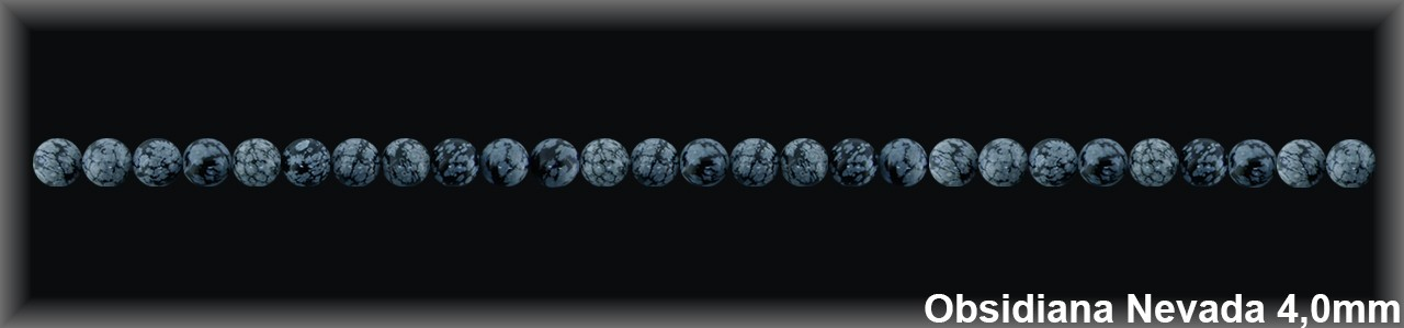 Bola Obsidiana Nev  4 MM.-1 Hilo 96 Pzas.-