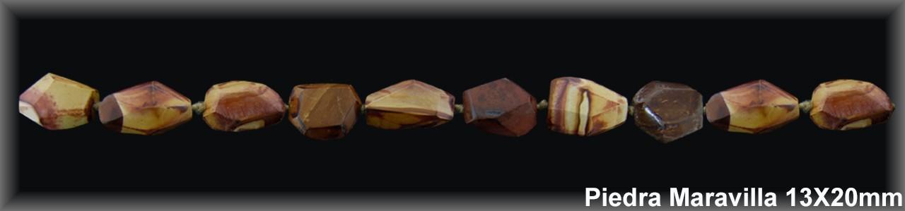 """Barrocafacetado  Piedra """"Maravilla"""" 13x20 MM.-1 Hilo 20 Pzas.-"""