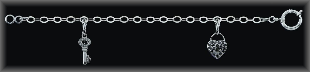 """Pulsera eslabones plata de ley 925 Mls """"Moving""""-reasa marinera-."""