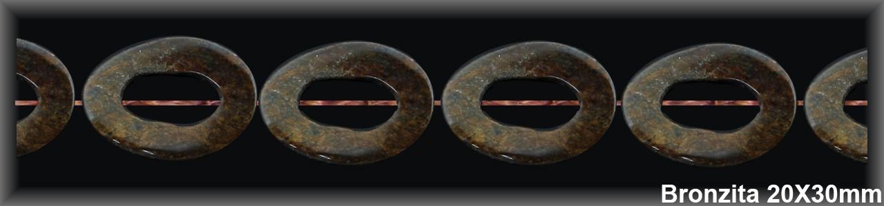 Cadena bronzita ondul  20x30 MM-1 Hilo 13 Pzas.-