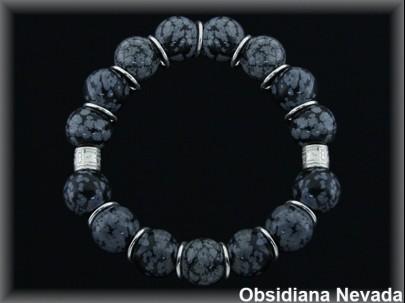 """Pulsera obsidiana nevada """"Moving"""""""