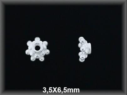 Entrepieza plata de ley 925 Mls lisa 3,3 x 6,5 mm.