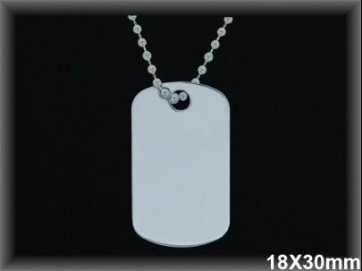 Colgantes plata placa militar con cadena ref33l317 Movegranada