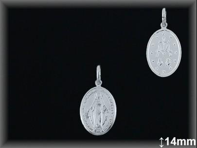 Medallas Plata Virgen Milagrosa ref 33l601d14 Movegranada