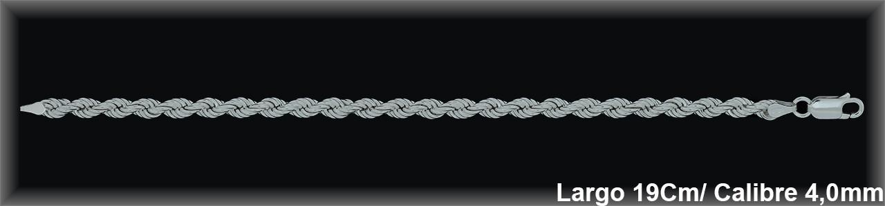 Pulseras Plata cordon salomonico ref 9L495 Movegranada
