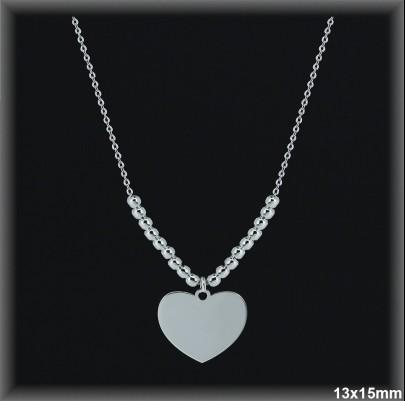 Gargantillas Plata corazon cadena forzada ref 7L017 Movegranada