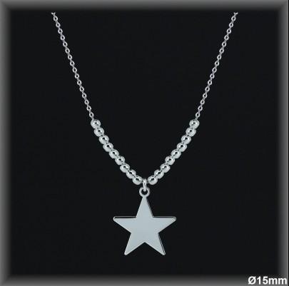 Gargantillas Plata estrella cadena forzada ref 7L016 Movegranada