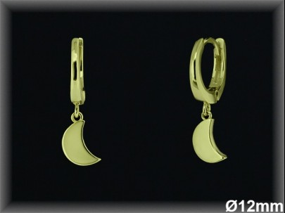 Aros Plata 925 chapada oro fetiche luna ref AL088C Movegranada