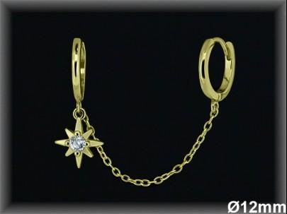 Aro cadena Plata rodio estrella polar ref AZ111C Movegranada