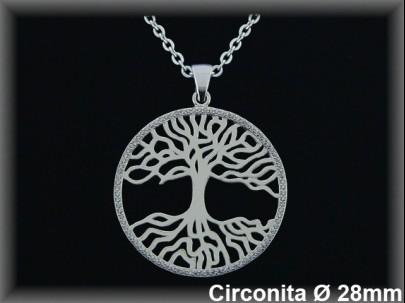 """Colgantes plata rod bocel..circonita  """"árbol de la vida""""28mm cad 7331br."""