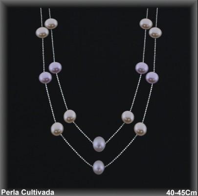 Gargantilla Perlas ref 7r014c Mayoristas Collares Perlas Cultivada