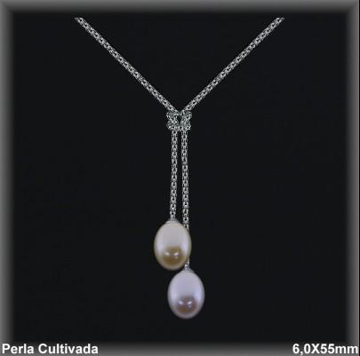 Gargantillas Perlas ref 7r018c Mayoristas Collares Perlas Cultivada