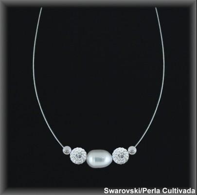 Gargantilla Perlas ref 74w003 Mayoristas Collares Perlas Cultivada