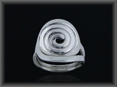 Anillo plata lisa -espiral-
