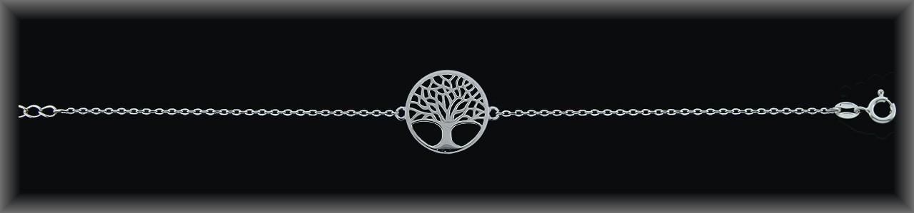 """Pulseras plata rodio cadena centro""""árbol de la vida""""16mm.Ø"""