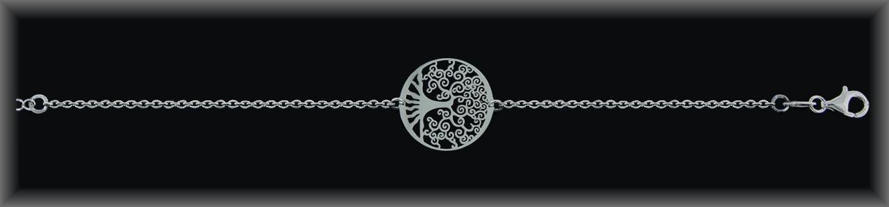 """Pulseras plata rodio """"árbol de la vida ."""" cad. forz ."""