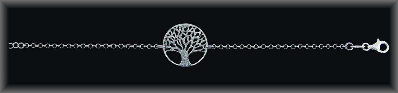 """Pulseras plata .""""árbol de la vida chispeado ."""" cad.rolo."""