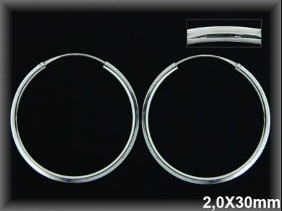 Aros plata 30x2.0 mm.