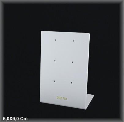 Display Expositor N?2 para 3 pendientes presion Oro 18K