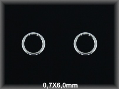 Anilla plata  soldada  0.7x6 mm