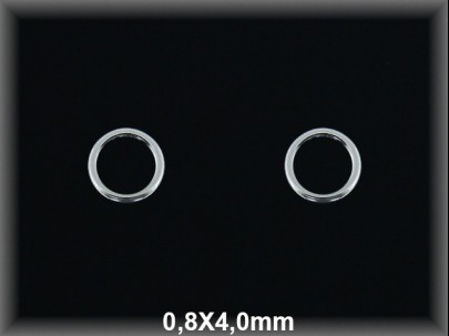Anilla plata  soldada  0.8x4.0 mm