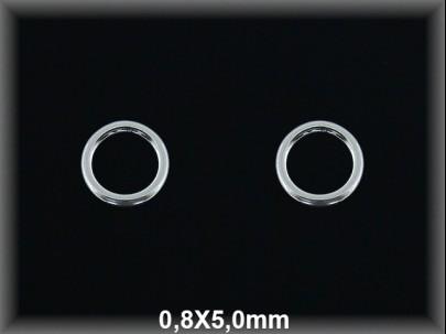 Anilla plata  soldada 0.8x5 mm