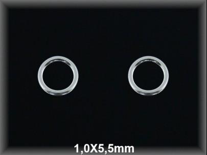 Anilla plata  soldada 1x5.5 mm