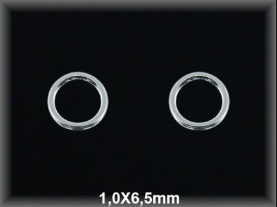 Anilla plata  soldada 1x6.5mm