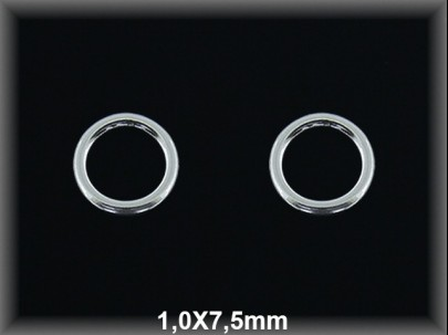 Anilla plata  soldada  1x7.5 mm