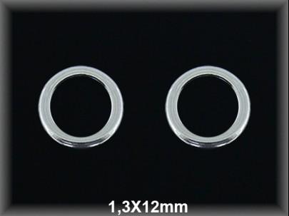 Anilla plata  soldada 1.3x12 mm