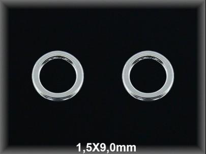 Anilla plata  soldada 1.5x9 mm