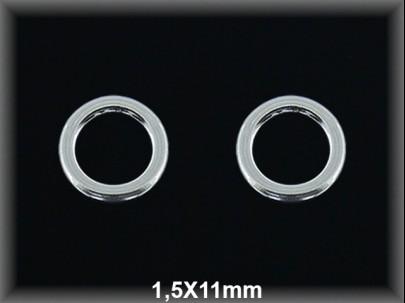 Anilla plata  soldada 1.5x11mm