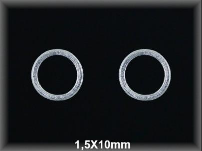 Anilla plata  soldada mate 1.5x10 mm