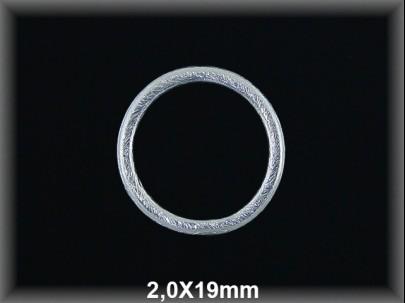 Anilla plata  soldada  mate 2x19 mm