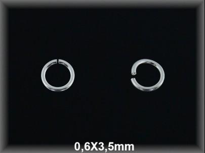 Anilla plata  abierta 0.6 x 3.5 mm