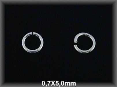 Anilla plata  abierta 0.7 x 5 mm