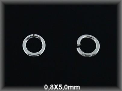 Anilla plata  abierta 0.8 x 5 mm