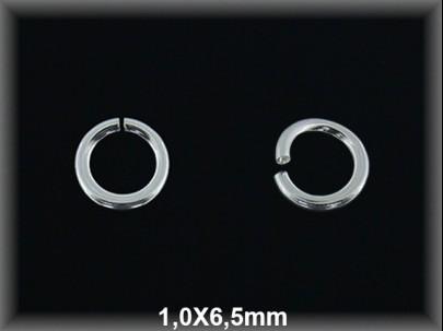 Anilla plata  abierta 1 x 6.5 mm