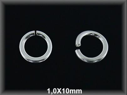 Anilla plata  abierta 1 x 10 mm
