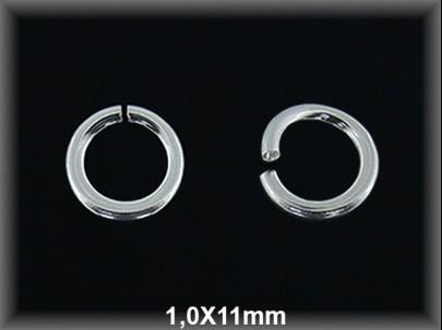 Anilla plata  abierta 1 x 11 mm