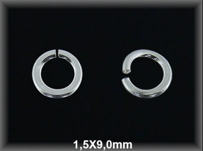 Anilla plata  abierta 1.5 x 9 mm